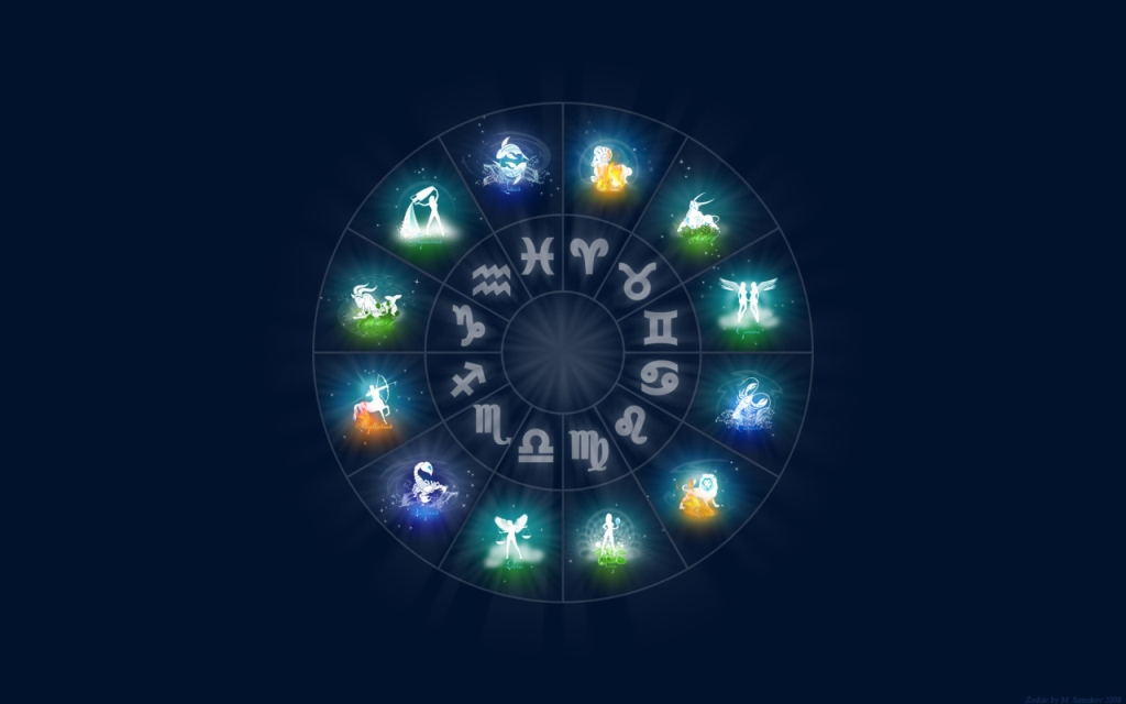 Zodiac signs All the signs of the zodiac on a blue background 047375 12