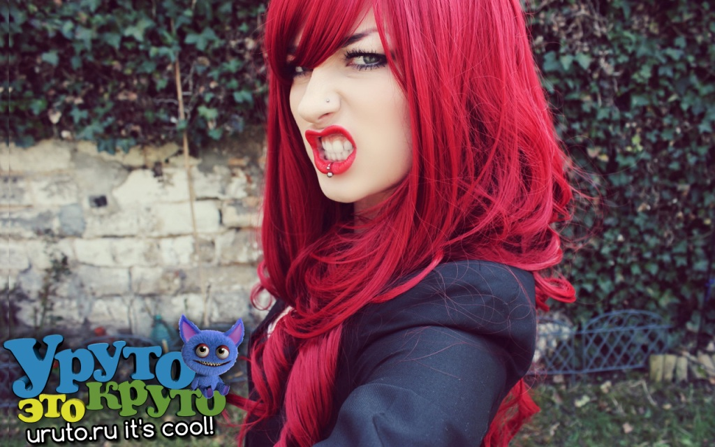 7021523 girl piercing red hair