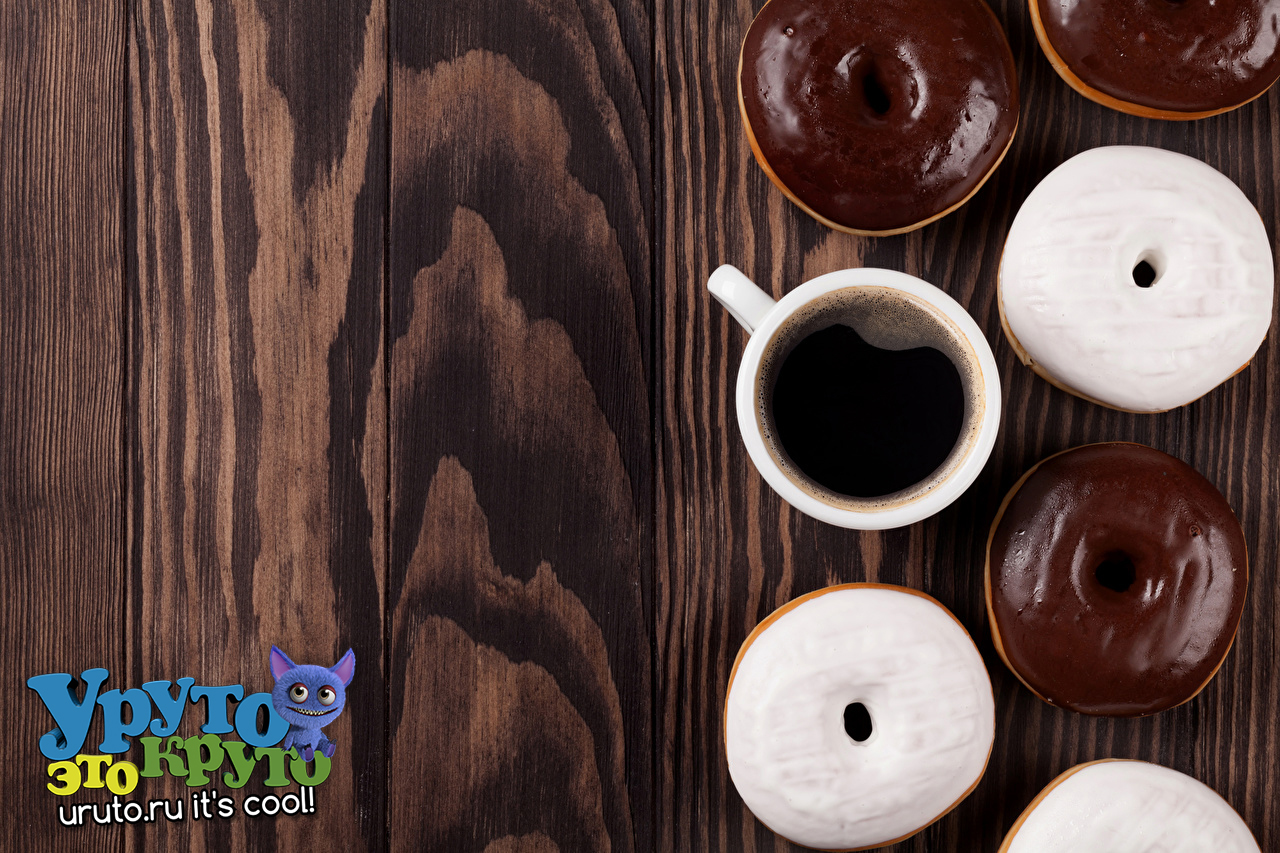 Coffee Donuts Chocolate Wood planks Cup 513609 1280x853