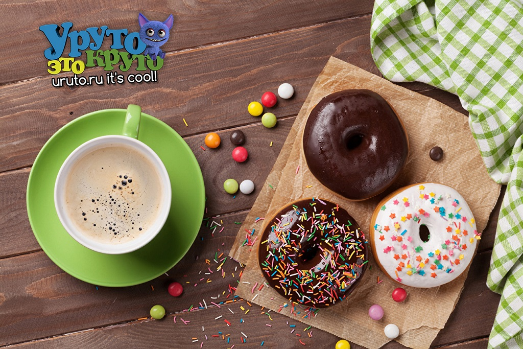 Donuts Coffee Sweets Chocolate Wood planks Cup 513464 1280x853