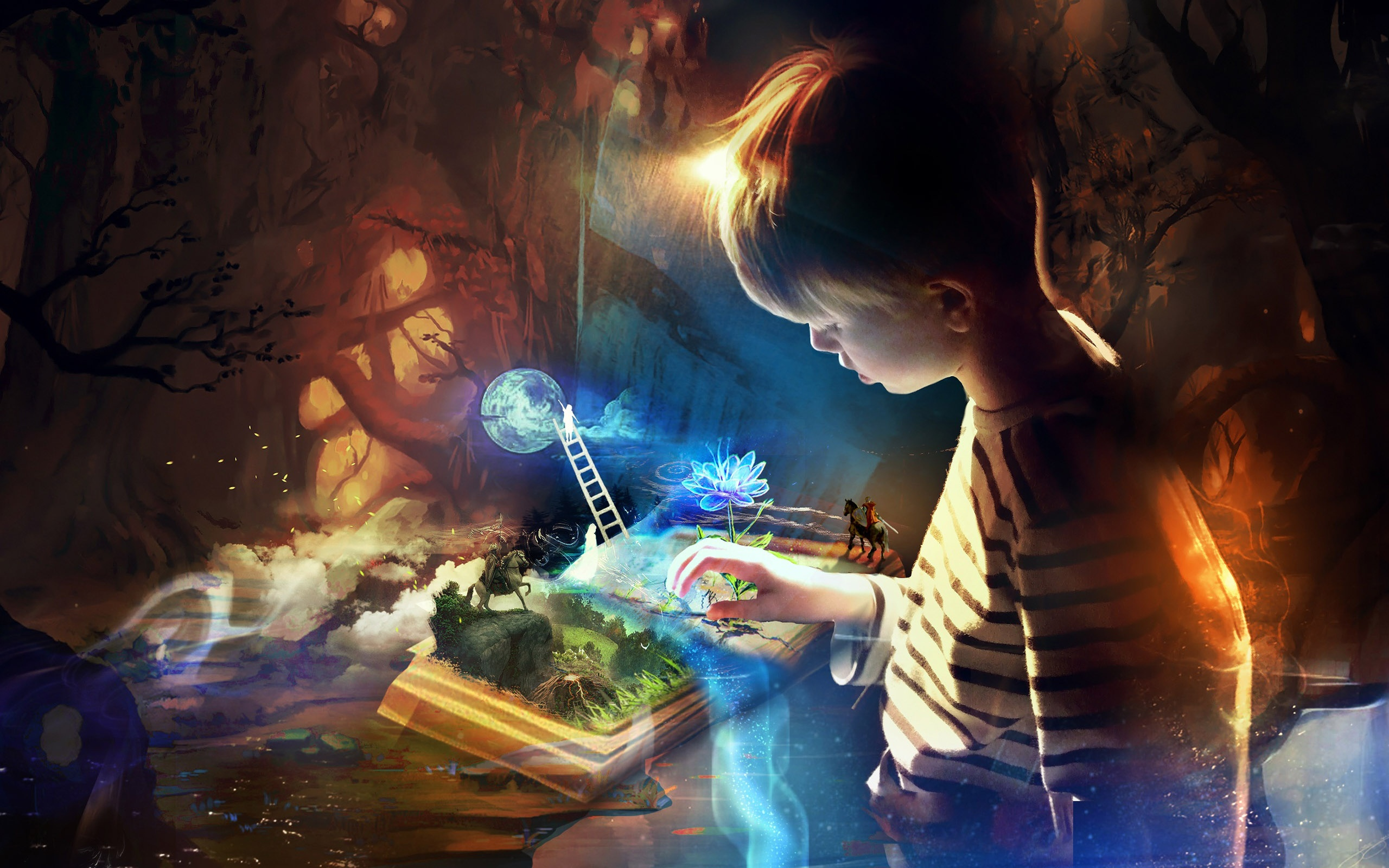books inspire imagination 2560x1600
